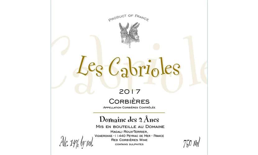 レ・カブリオール AOP コルビエールのロゴ