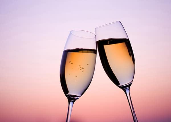 ロゼワインで乾杯