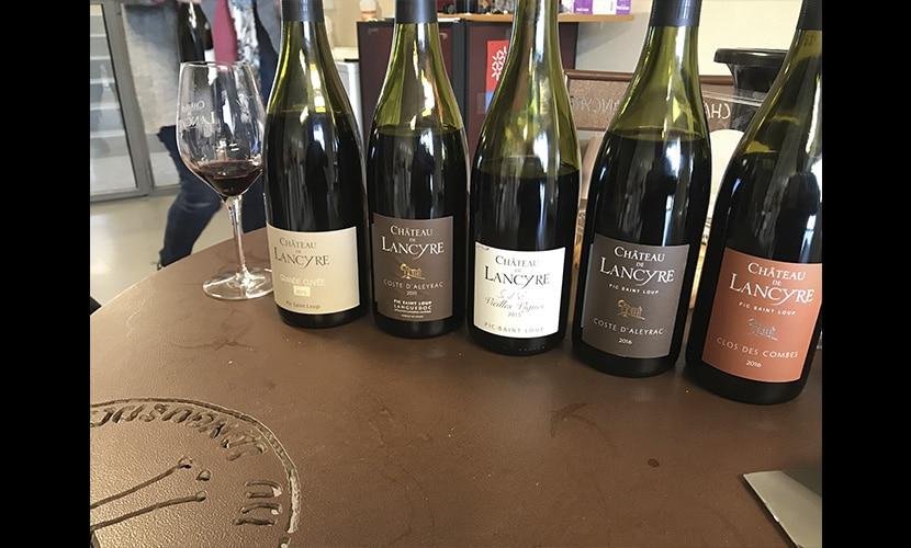 シャトー・ド・ランシールのワインの数々